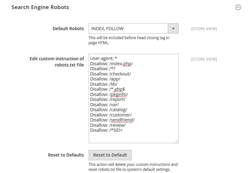 Magento SEO robots.txt