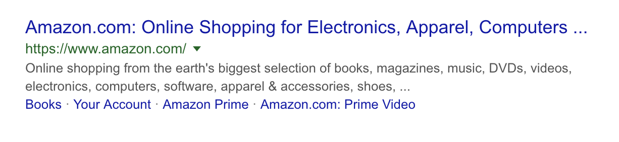 Amazon meta description