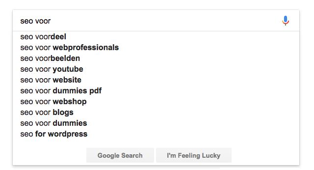 Zoekwoord voor je zoekmachine optimalisatie strategie